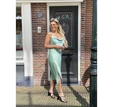 Silky Button Dress Mint