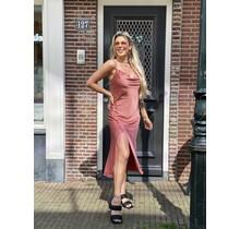 Silky Button Dress Blush