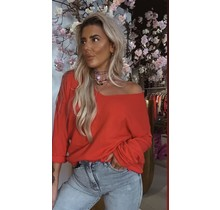 Basic Soft Sweater Coral