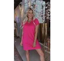 T-Shirt Dress V Pink
