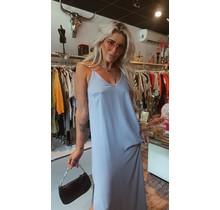 Straight Split Dress Blue