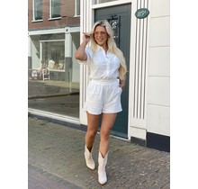 Broderie Playsuit White