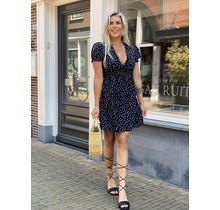 All Over Dots Dress Black