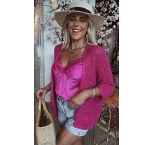 All About Glitter Vest Pink