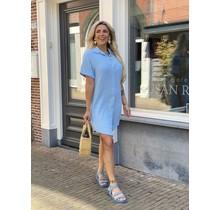 Spain Blouse Midi Dress Blue