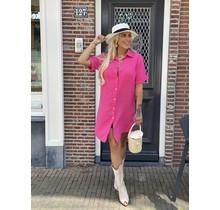 Spain Blouse Midi Dress Pink