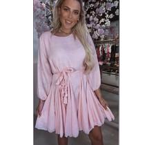 Linnen Braid Dress Soft Pink