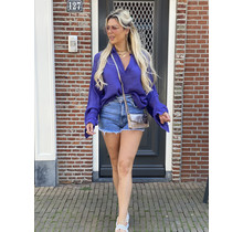 Hot Like Summer Blouse Purple
