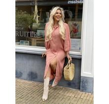 Spain Oversized Dress Old Pink Long