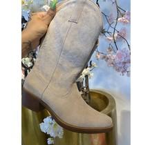 Suede Bella Boots Beige