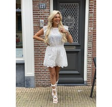 Sia Playsuit Broderie White
