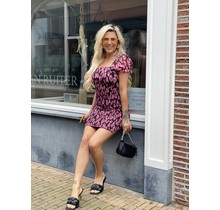 Crazy for Leopard Bow Dress