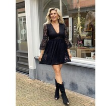Lindos Lace Dress Black