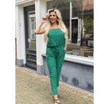 Laced with Love Strapless Jumpsuit Green
