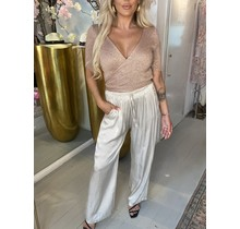 Silky Straight Pants Champagne