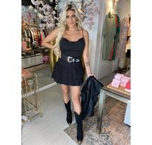 Ruffle Layer Skirt Black