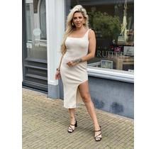 Martini Split Dress Beige