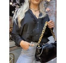 Rachel Ruffle Blouse Black