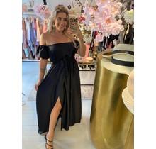 Date Night Satin Dress Black