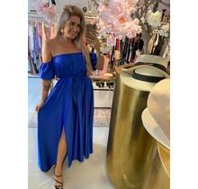 Date Night Satin Dress Blue