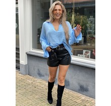 Get The Look Leather Shorts