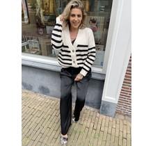 Stripe Vest Creme/Black