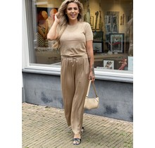 Silky Straight Pants Gold