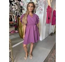 Suki Ruffle Dress Purple