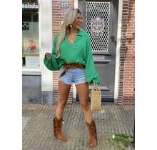Hot Like Summer Blouse Green