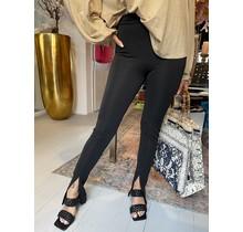 Front Split Legging Black