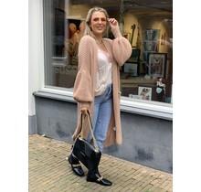 Cardigan Vest Long Soft Pink