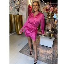 Chique in Pink Wrap Dress