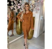 Woman In Rust Dress