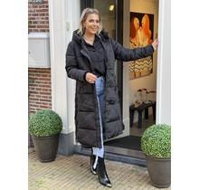 Extra Long Puffer Jacket Black