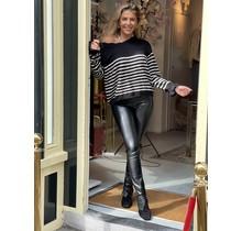 Striped Sweater Black/White
