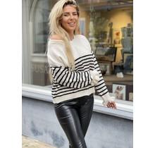 Striped Sweater White/Black