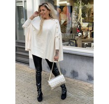 Buttons Everywhere Sweater Creme