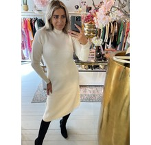 Knitted Long Dress Creme