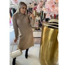 Knitted Long Dress Taupe