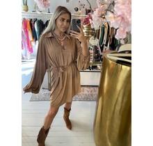 Shimmer Dress Bronze