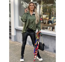 Simply The Best Satin Blouse  Green