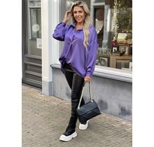 Simply The Best Satin Blouse  Purple