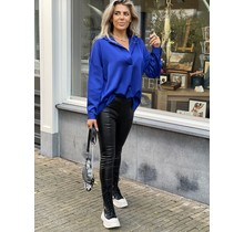 Simply The Best Satin Blouse Royal Blue