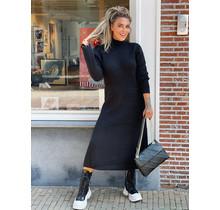 Knitted Long Dress Black