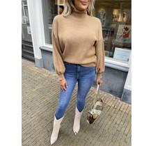 Lilo Ballon Sleeve Sweater Brown