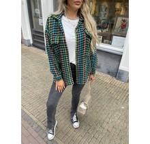 Checkered Color Jacket Green