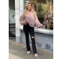 Velvet Balloon Blouse Soft Pink