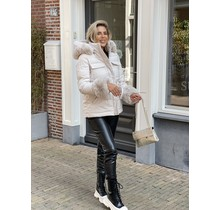 Let's Faux Fur Coat Creme