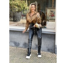Simply The Best Satin Blouse Light Brown
