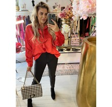 Simply The Best Satin Blouse Red